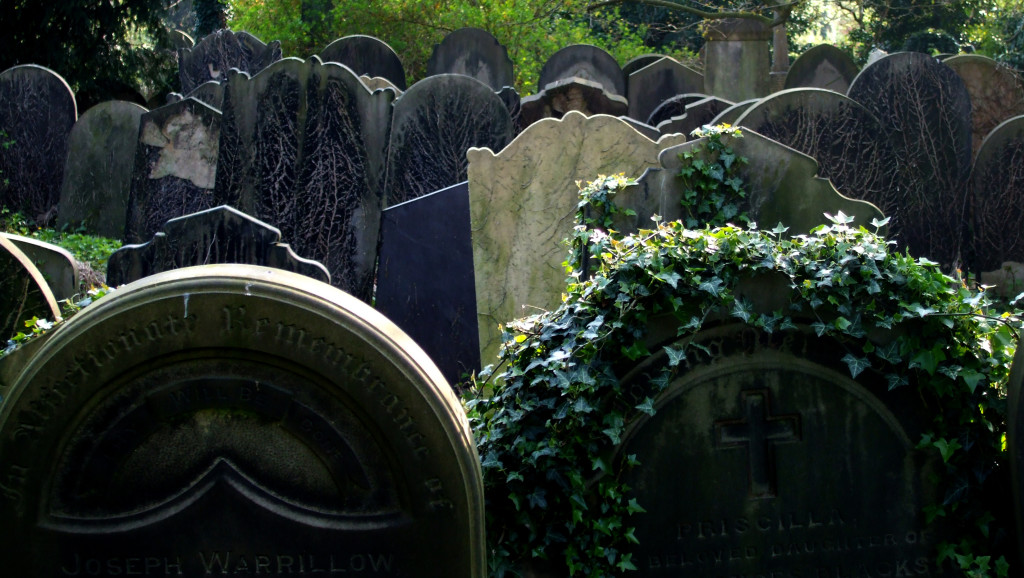 Crowded cemeteries are rich historical resources.