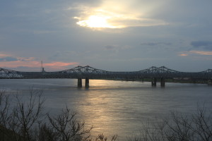 Sunset over the Mississippi, Saturday, Feb. 20