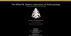 Alfred W. Bowers Laboratory of Anthropology Website