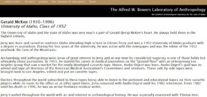 The Gerald McKee Collection Page on the Bowers Website